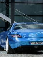 Emission-free Mercedes-Benz SLS AMG rear view