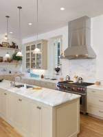 The remodeled kitchen hall