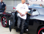 T. I drives Dodge Challenger SRT8