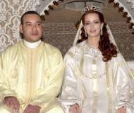 King Mohammed VI with his wife