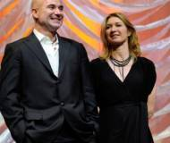 Andre Agassi and wife Steffi Graf