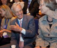 Jorge Paulo Lemann and Harvard President Drew Faust( right)