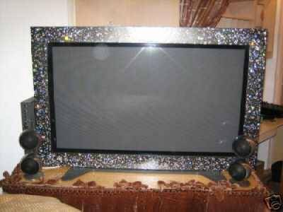 crystal framed plasma tv