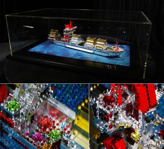 Love to the Rescue Crystallized LEGO Sculpture is valued at $40,000