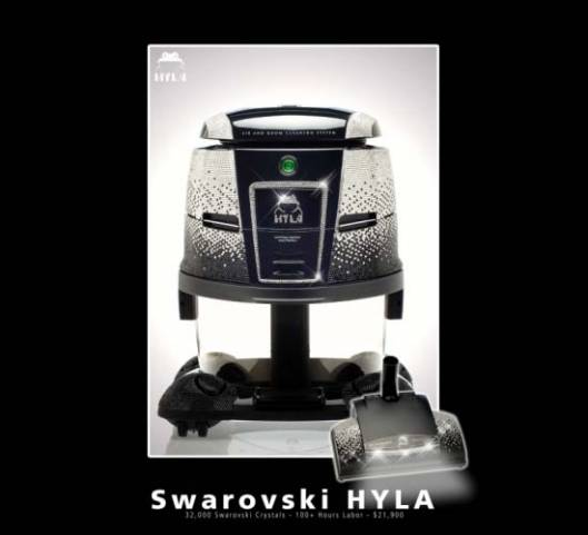 $21,900 Swarovski-Encrusted Vacuum Cleaner by Hyla U.S.
