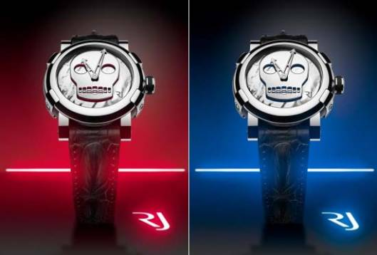 Romain Jerome's Art-DNA collection features Skull Watches by John M Armleder