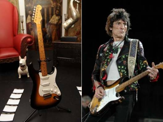 Exclusive Rolling Stones memorabilia from Ronnie Wood's private collection sold at auction