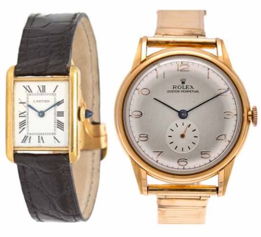 Andy Warhol's Cartier & Rolex Watches for sale