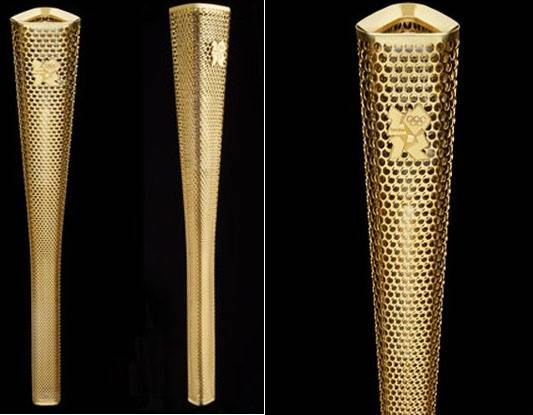 Gold Olympic torch