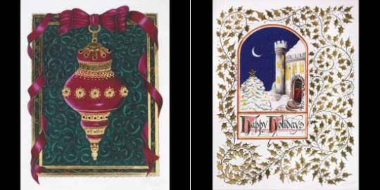 Custom Luxury Greeting Card for Holiday 2012 is adorned with jewels and 23k gold