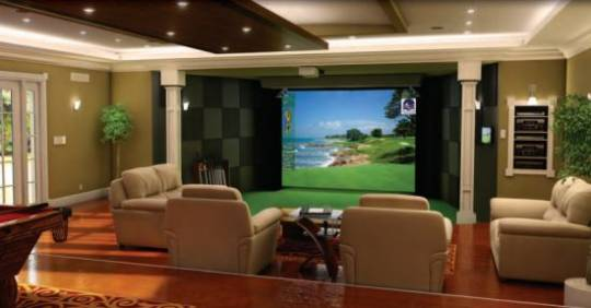 High Definition Golf Simulator for Luxury Homes