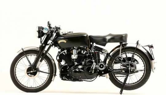 1952 Vincent Black Shadow bike has given a through restoration jobs during the 1980s