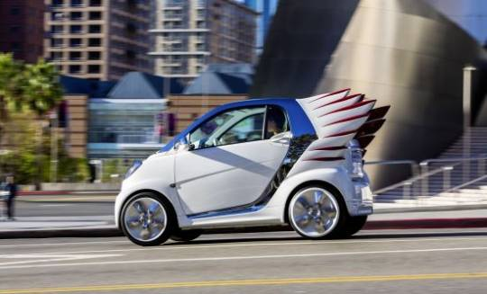 Fashion Designer Jeremy Scott gives wings to the Mercedes-Benz Smart Fortwo Electric Drive
