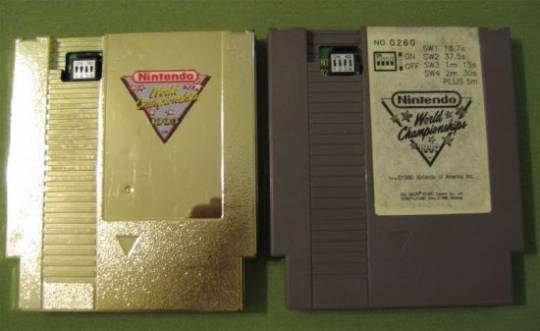 Nintendo World Championship gold cartridge gold