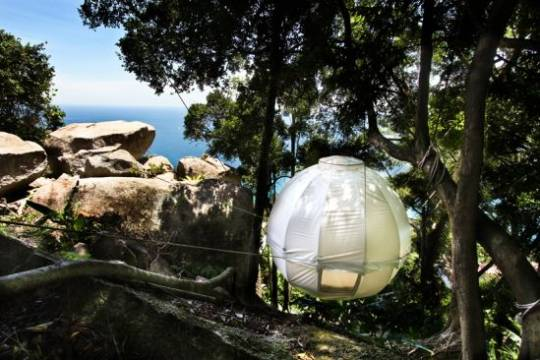 Cocoon Tree Pod can be installed anywhere for nesting in luxury
