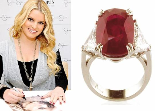 Jessica Simpson's Ruby Ring