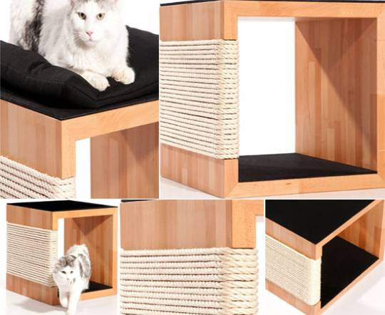 Manufaktur cat scratching post with long lasting scratch protection