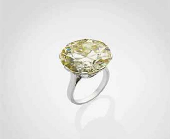 Yellow diamond ring sells For $623,000 at Christie's Paris Jewels Sale