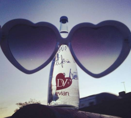 evian's 2013 limited edition bottle by Diane von Furstenberg