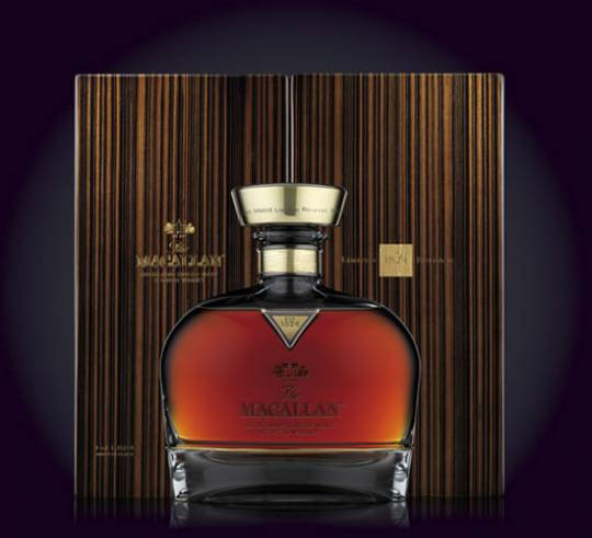 Macallan 1824 single malt whisky for 2012 edition