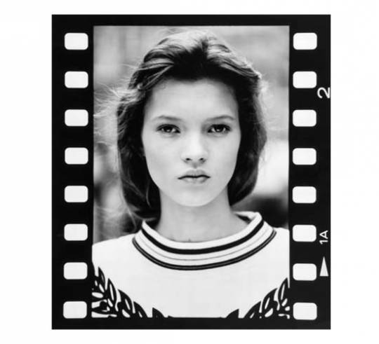 Three vintage photographs of 14-year-old Kate Moss from her first sitting is up for grabs