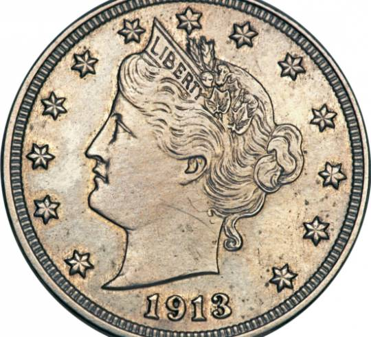 1913 Liberty Nickel once owned by George O.Walton