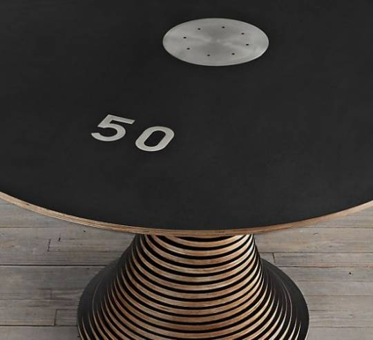 Restoration Hardware's Stack 50 table is one for the geeks