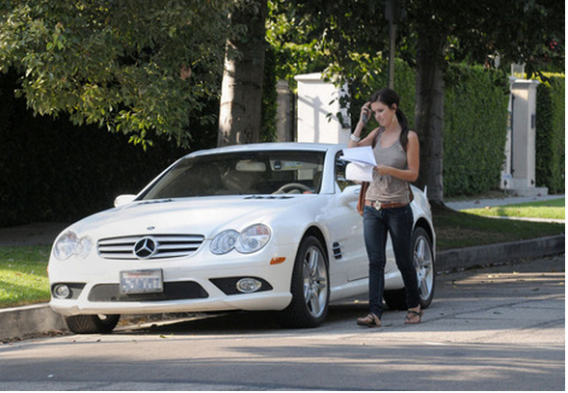 Audrina drives Mercedes Benz SL65 AMG