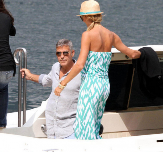George Clooney on vacation in Lake Como