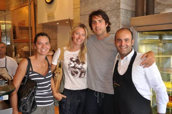 Maria Sharapova was seen holidaying with her boyfriend Sasha Vujačić in the beautiful city of Udine, Italy