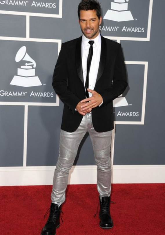 Ricky Martin loves wearing Ugg boots (not in the image) has been seen donning them frequently.