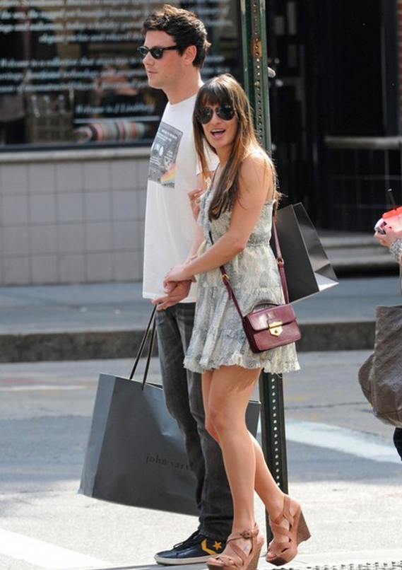 The actress loves wearing this designer satchel.