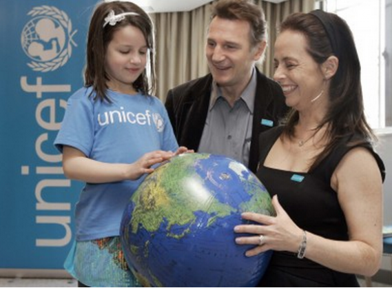 Liam Neeson at UNICEF event.