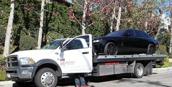 Kim's Rolls Royce on delivery day