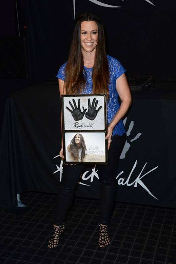 When Alanis Morissette was honored at the Rockwalk of fame, she chose the unique looking caged ankle booties from the Sergio Rossi 2010 Spring Collection to cover her feet.