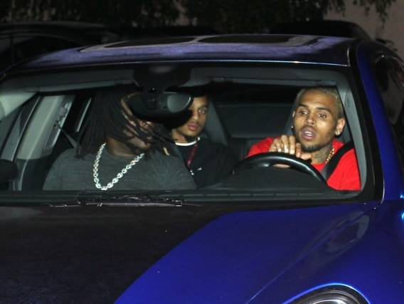 Chris Brown's Blue Porsche Panamera