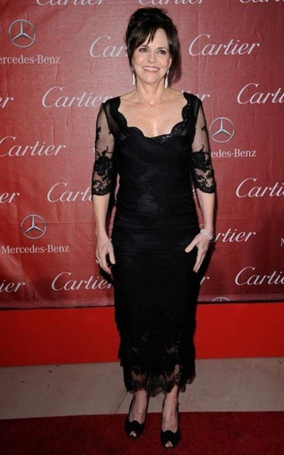 Sally Field wears Dolce & Gabbana Fall 2012 RTW Lace Sheer Dress