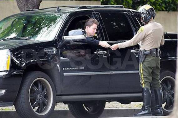 Channing drives Cadillac Escalade