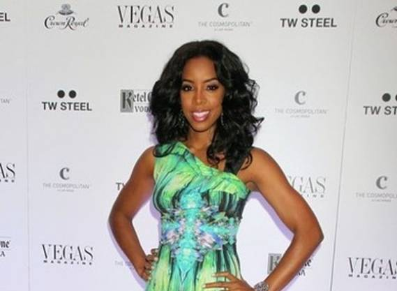 kelly wears Roberto Cavalli Digital Print Stretch Dress