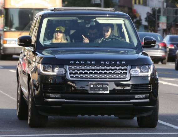 Christina Aguilera owns a brand new metallic black Range Rover