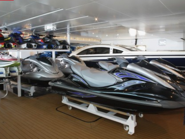 Limousines and jetski transporters
