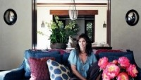 Cindy Crawford in her living room