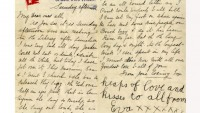 Letter written aboard the Titanic to be auctioned