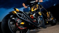 Paul Jr. designs a customized Chopper motorcycle with biometric system