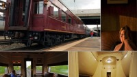 Relieve the 40's era by travelling around the city in a private rail car