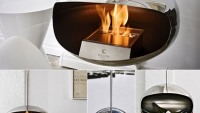 Cocoon Aeris hanging fireplace can rotate 360 degrees for perfect house warming