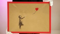 Graffiti painting with Ikea cardboard backing from Banksy sells at $117,314