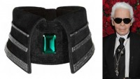 Karl Lagerfeld's $45k emerald and diamond collar is a one-off piece