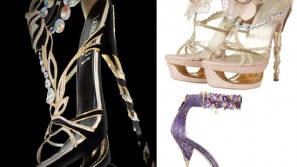 Loriblu Luxury Shoe collection features made to order gold & diamond shoes