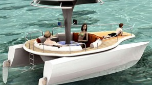 Solar and Human Powered Concept Boat